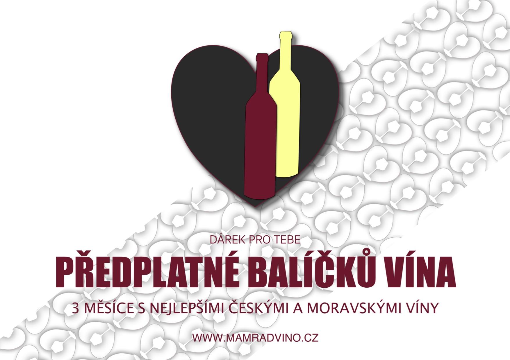 Dárkový poukaz na předplatné vína